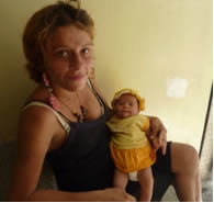 Marcia and her baby