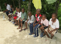 the boys in Jacmel ,Marbial boys  Home