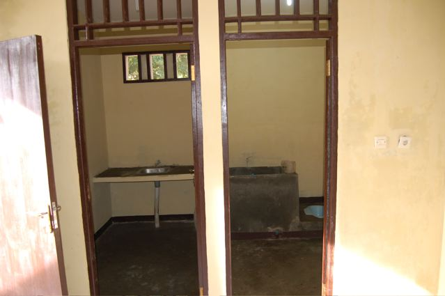 Sick room bath and kitchen